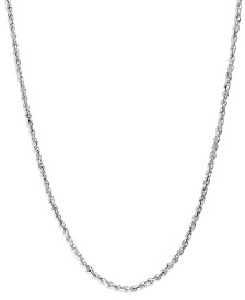 14k White Gold 24 inch Chain Necklace (1-3/4mm)
