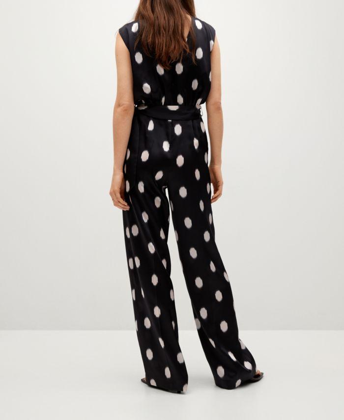 MANGO Polka-Dot Belt Jumpsuit & Reviews - Women - Macy's