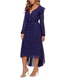 Clip-Dot Midi Dress
