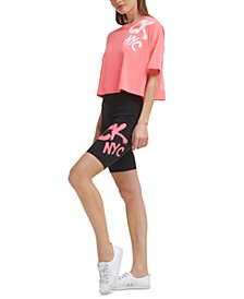 Women's Graffiti-Logo Bike Shorts