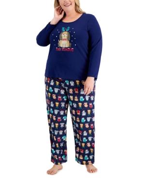 Plus Size Bah Humbug Pajama Set