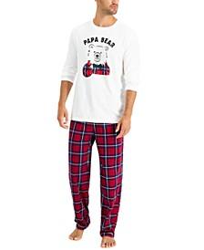 Matching Men's Papa Bear Family Pajama Set