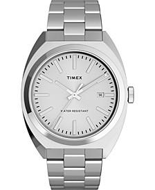 Men's Milano Silver-Tone Stainless Steel Bracelet Watch 38mm