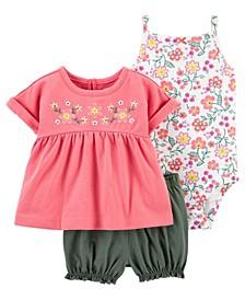 Baby Girls Floral Little Short, 3 Piece Set