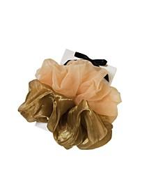 Lucy 2-Pk. Mocha Oversized Scrunchies