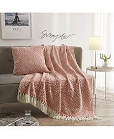 Reverse Chenille Throws and Decorative Pillows