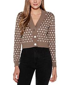 Black Label Long Sleeve V-neck Button Up Cardigan Sweater