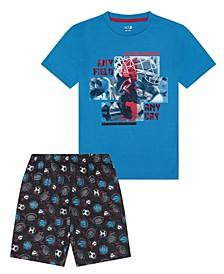 Big Boys Any Field Short Pajama, 2 Piece Set