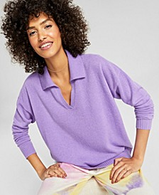 Cashmere Johnny-Collar Sweater, Created for Macy's