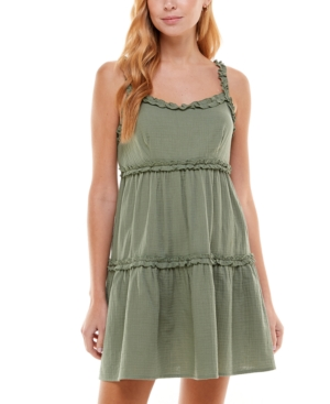 Juniors' Tiered Fit & Flare Dress