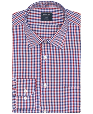 Men's Fitted Stretch Coigach Check Dress Shirt