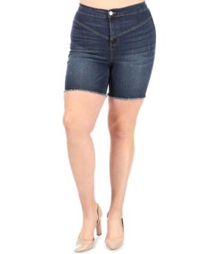 Trendy Plus Size Ultra High Rise Jean Shorts
