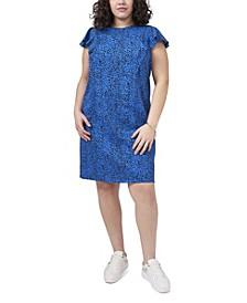 Plus Size Leopard Dash Dress