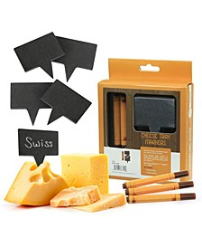 Cheese Marker Slates with Chalk Markers, Set of 8