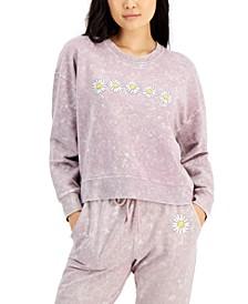 Juniors' Daisy Graphic Sweatshirt