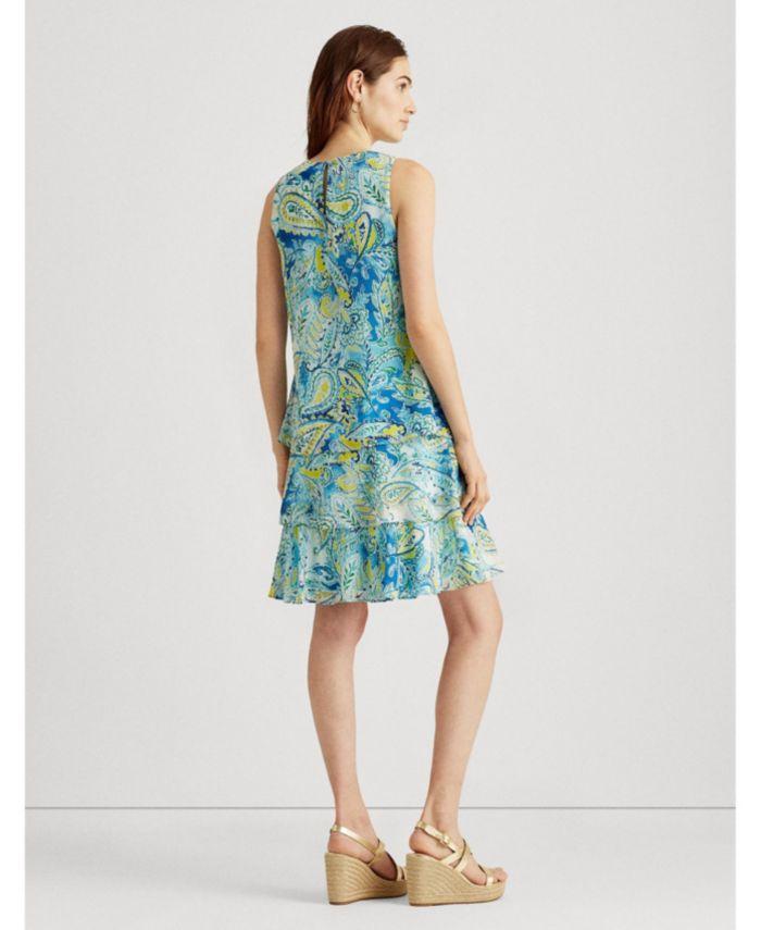 Lauren Ralph Lauren Petite Paisley Georgette Shift Dress & Reviews - Dresses - Petites - Macy's