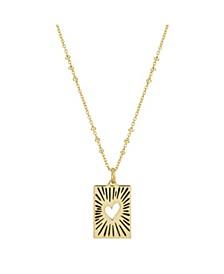 "Gold Flash-Plated Talisman Heart Pendant Necklace, 16+2"" Extender"