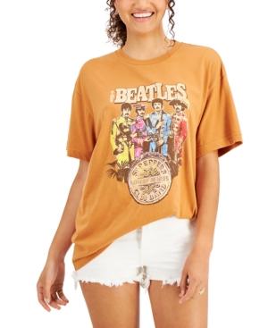 Juniors' Beatles Graphic Oversized T-Shirt