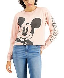Juniors' Mickey Long-Sleeve T-Shirt