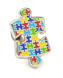 Men's Autism Awareness Puzzle Lapel Pin