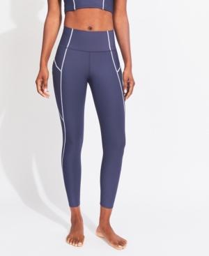 Women's Contrast Stitch High Rise 7/8 Leggings