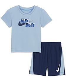 Toddler Boys 2-Pc. Dri-FIT T-Shirt & Shorts Set