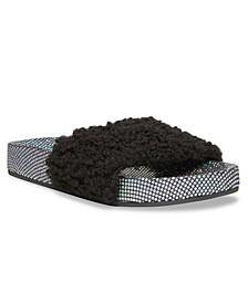 Little Girls JShear Faux Shearling Slide Sandals
