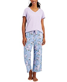 Everyday Cotton Printed Knit Pajama Pants, Created for Macy's