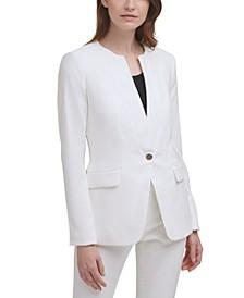 X-Fit Collarless One-Button Blazer
