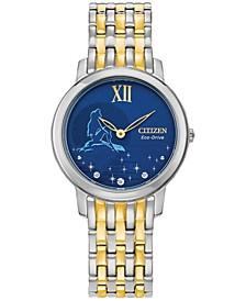 Eco-Drive Women's Ariel Two-Tone Stainless Steel Bracelet Watch 30mm