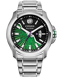 Eco-Drive Men's Hulk Silver-Tone Stainless Steel Bracelet Watch 43mm