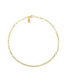 18k Gold Vermeil Paper Clip Necklace