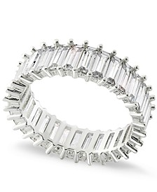 Silver Plated Baguette Stone Band Ring, Created for Macy's