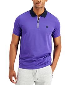 Men's Half-Zip Sport Polo Shirt
