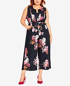 Trendy Plus Size Floral Crush Jumpsuit