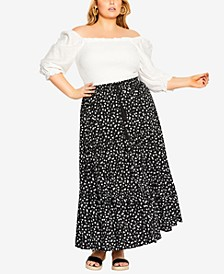 Trendy Plus Size Sweet Ditsy Skirt