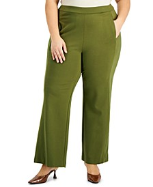 Plus Size Wide-Leg Pants, Created for Macy's