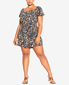 Trendy Plus Size Sun Paisley Romper