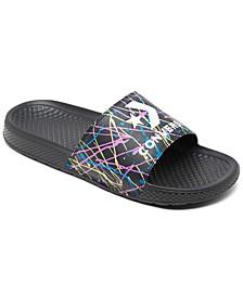 Men's Chuck Taylor All Star Paint Splatter Slide Sandals from Finish Line