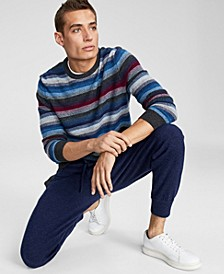 Men's Aster Stripe Cashmere Sweater, Created for Macy's