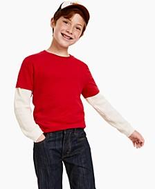 Big Boys Short Sleeve Solid Basic T-shirt