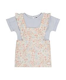 Baby Girls 2-Pc. Floral-Print Jumper & Top Set