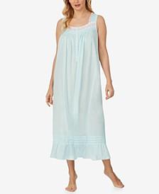 Lace-Trim Cotton Ballet Nightgown