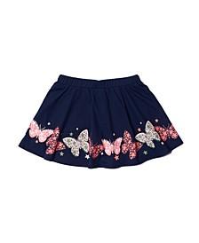 Little Girls Graphic Hem Skirt