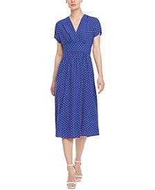 Bolero Dot-Print Surplice Dress