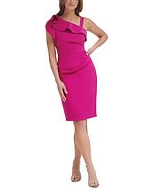 Ruffled One-Shoulder Sheath Dress