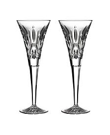 Lismore Toasting Flute Glass, Set of 2