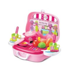 Toy Chef Children's Portable Mini Toy Kitchen Set, 25 Pieces