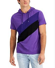 Men's Colorblocked Short-Sleeve Hoodie, Created for Macy's