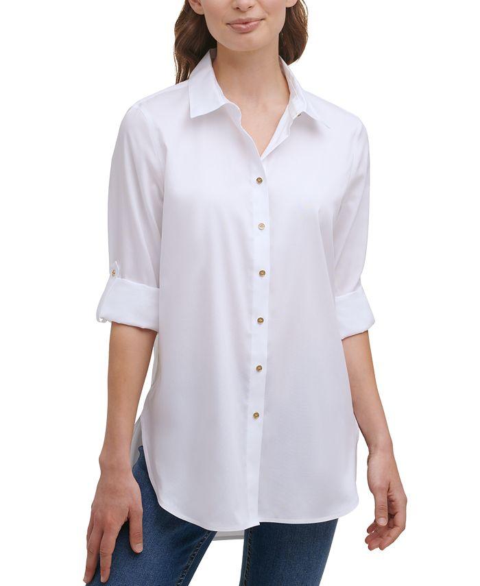 Calvin Klein - Non-Iron Button-Down Tunic
